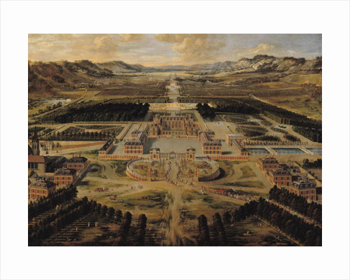 Perspective view of the Chateau, Gardens and Park of Versailles seen from the Avenue de Paris, 1668 by Pierre Patel