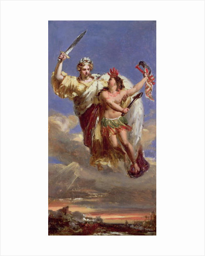 France Sustaining America: Allegory of the Siege of Yorktown by Louis Edouard Rioult