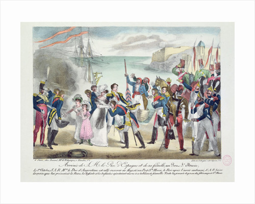 Arrival of His Majesty Ferdinand VII and his family at Porte Sainte Marie by French School