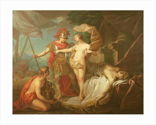 Achilles leaving to avenge the death of Patroclus by Etienne Jeaurat