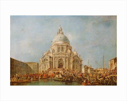 The Doge of Venice at the Festa della Salute, 21 November, to commemorate the end of the pestilence of 1630 by Francesco Guardi