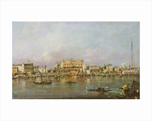 Doge's Palace and view of St. Mark's Basin, Venice by Francesco Guardi