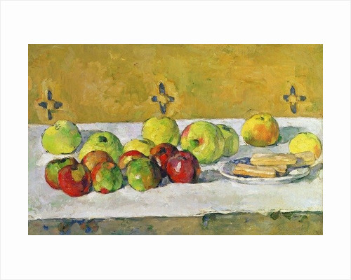 Still Life with Apples and Biscuits by Paul Cezanne