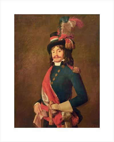Portrait of Jean-Baptiste Milhard, by Jacques Louis David