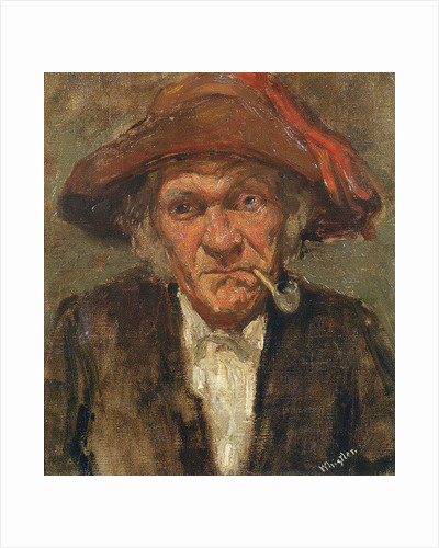 Man smoking a pipe by James Abbott McNeill Whistler