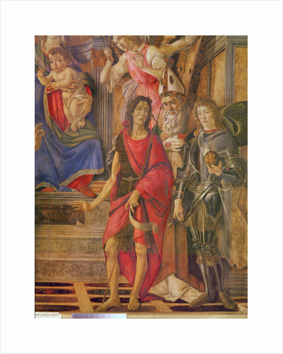 The Altarpiece of Saint Barnabas, Virgin and child enthroned by Sandro Botticelli
