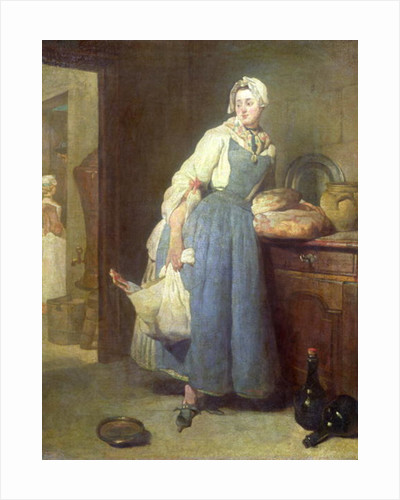 The Kitchen Maid With Provisions By Jean Baptiste Simeon Chardin