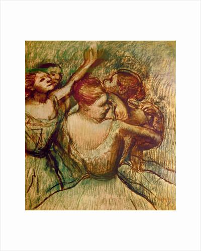 The Green Dancers by Edgar Degas