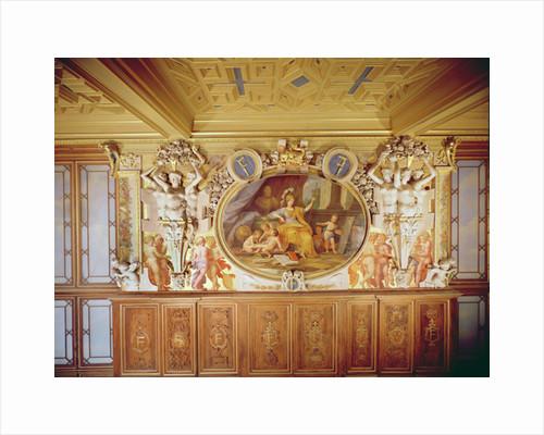 Galerie François I, Fresco depicting 'La Nymphe de Fontainebleau' by Louis Charles Auguste Couder