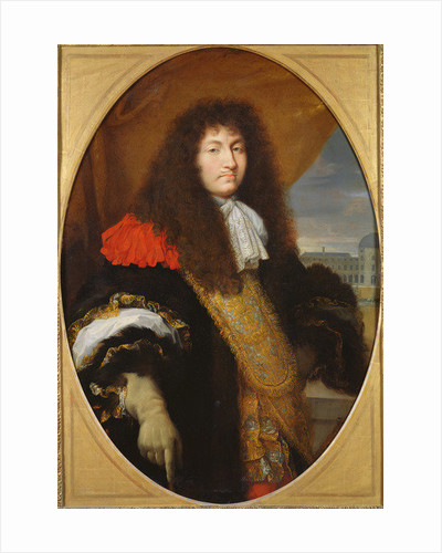 Portrait of Louis XIV, King of France and Navarre, in front of the Tuileries by Charles Le Brun