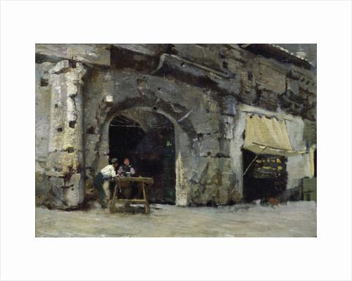 Rome, Dark Shops by Antoine Auguste Ernest Herbert or Hebert