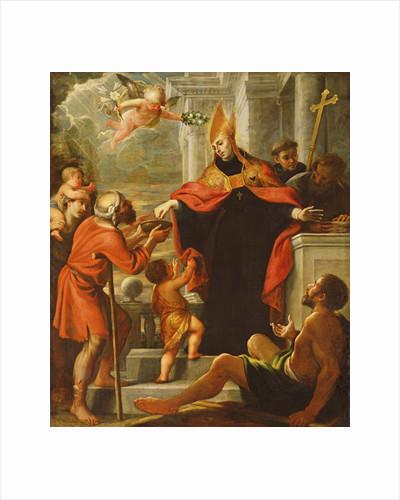 Saint Thomas of Villanova distributing alms by Mateo Cerezo