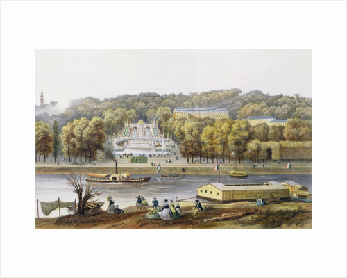 Palace and Park of Saint-Cloud by Isodore Laurent Deroy