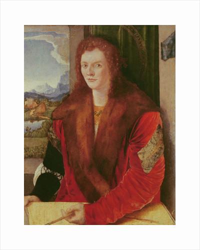 Portrait of a Young Man or Portrait of a Young Man represented as Saint Sebastian by Albrecht Dürer or Duerer