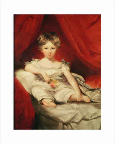 Little Girl with a Rose by Thomas Lawrence