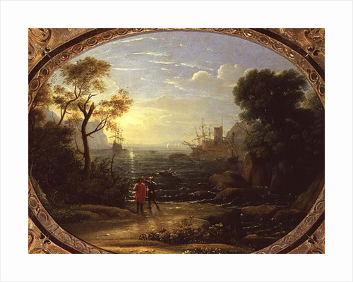Coastal Landscape at Sunset by Claude Lorrain