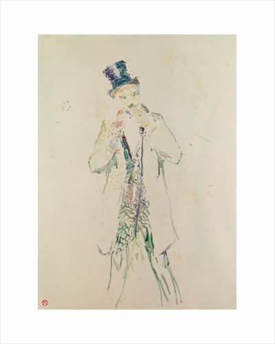 A Standing Gentleman Lighting his Cigar by Henri de Toulouse-Lautrec