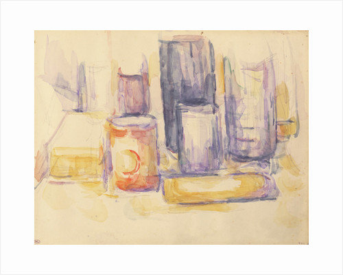 Kitchen Table: Pots and Bottles by Paul Cezanne