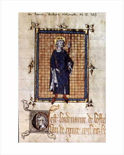 AE II 327 King Saint Louis carrying the Sceptre and the Hand of Justice by French School