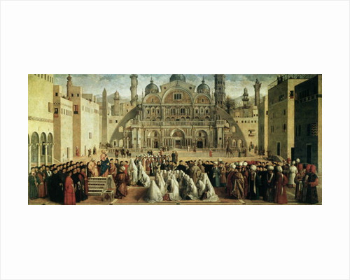 St. Mark Preaching in Alexandria, Egypt by Gentile & Giovanni Bellini