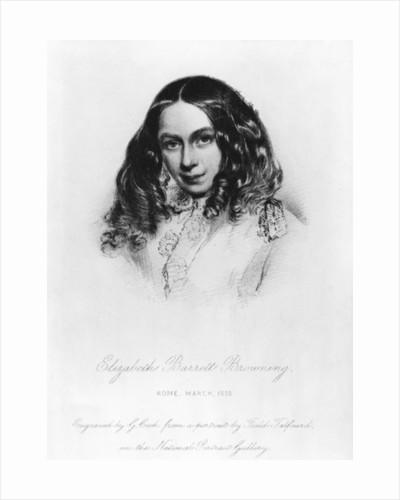 Portrait of Elizabeth Barrett Browning in 1859 by Field Talfourd