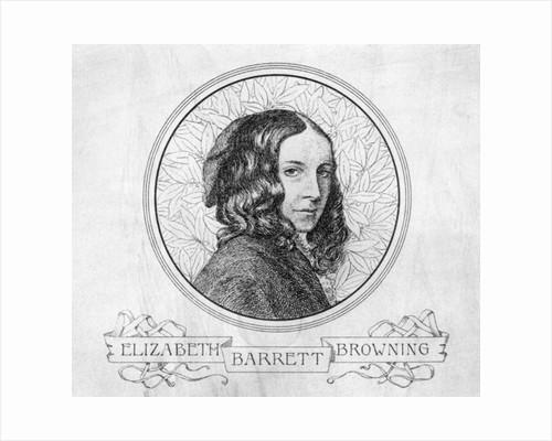 Portrait of Elizabeth Barrett Browning by English School