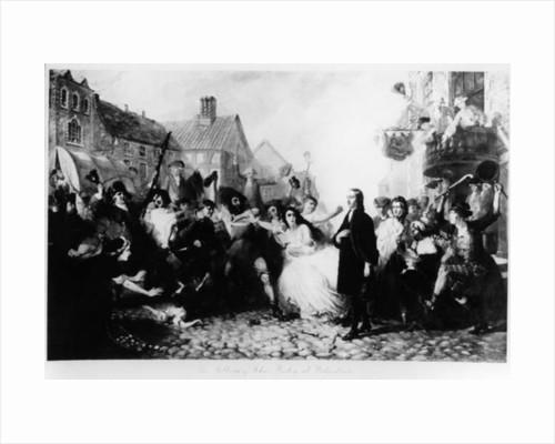 The Mobbing of John Wesley at Wednesbury by English School