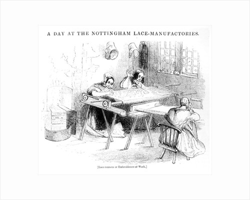 A Day at the Nottingham Lace Manufacturers by English School