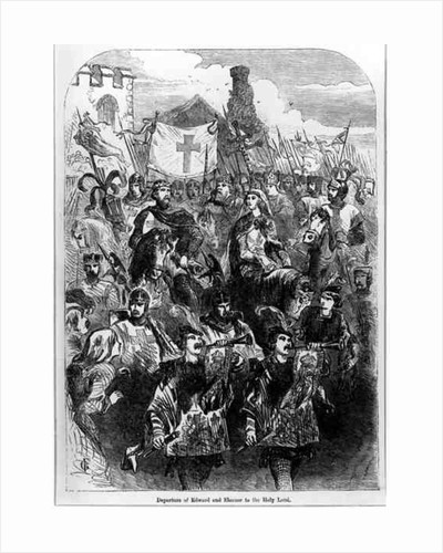 Departure of Edward I and Eleanor of Castile to the Holy Land by English School