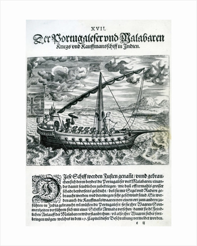 Ship from 'India Orientalis' by Theodore de Bry