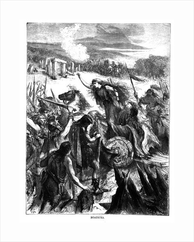 Boadicea Inciting the Iceni against the Romans by English School