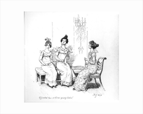Offended two or three young ladies by Hugh Thomson