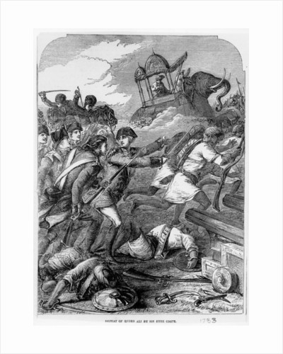 The Defeat of Hyder Ali by Sir Eyre Coote in 1781 by English School
