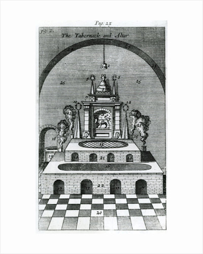 The Tabernacle and Altar by English School