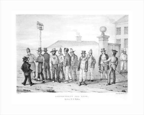 A Government Jail Gang, Sydney, New South Wales by Augustus Earle
