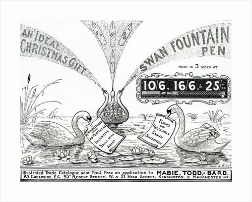 Advert for Swan Fountain Pens by Unknown