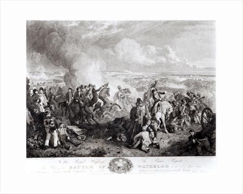 The Battle of Waterloo, 18th June 1815 by John Augustus Atkinson