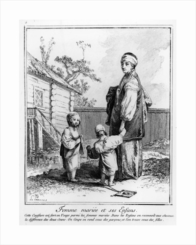 A Married Jewish Woman and her Children by French School