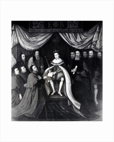 Edward VI Granting the Charter to Bridewell and Bethlehem Hospitals in 1553 by English School
