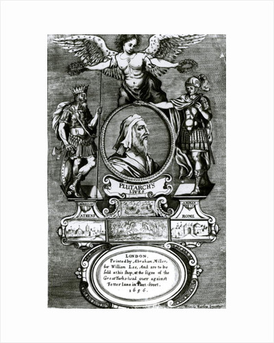 Frontispiece of 'Plutarch's Lives' by Plutarch by Francis Barlow