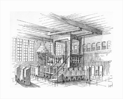 Interior of an old Synagogue at Metz, Germany by English School