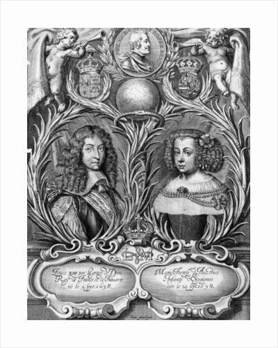 Louis XIV, King of France and Marie-Therese of Austria by Pierre Cocus