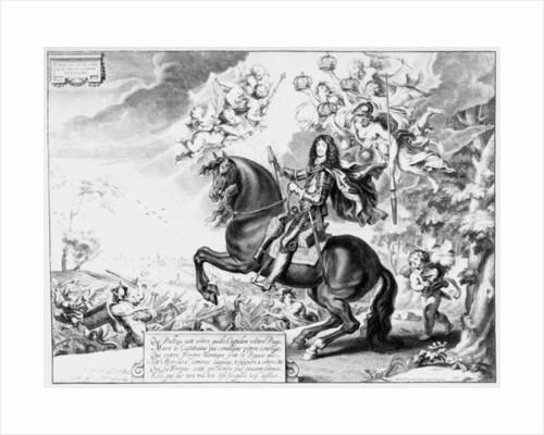 Equestrian Portrait of Charles II with Gods by Cornelius van Caukercken