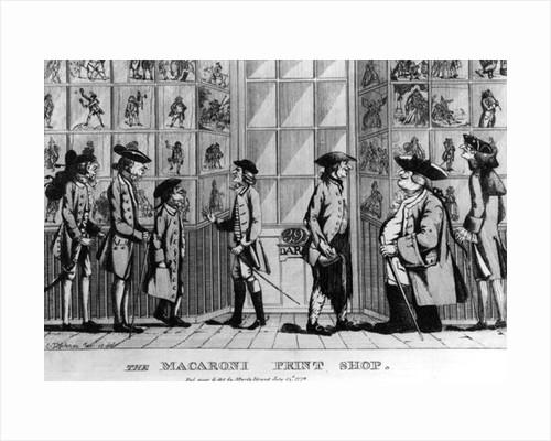 The Macaroni Print Shop, pub. by N. Darley by E Jopham