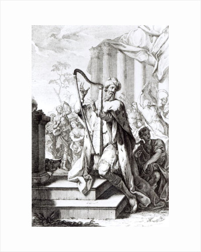 King David Playing the Lyre by Giuseppe Camerata