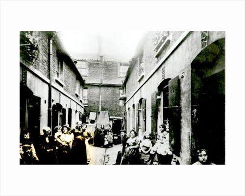 Slum in Victorian London by English Photographer