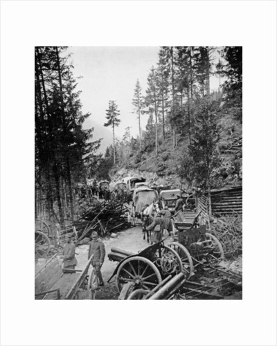 Supply Waggons in Italy during World War I by Unknown