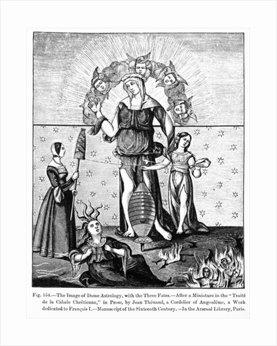 The Image of Dame Astrology with the Three Fates by French School
