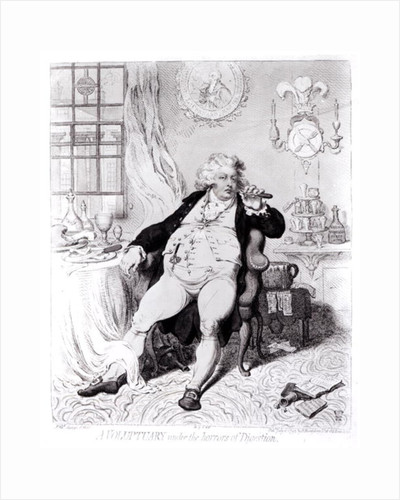 A Voluptuary under the Horrors of Digestion, published in 1792 by English School