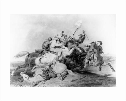 Battle of Marston Moor by English School